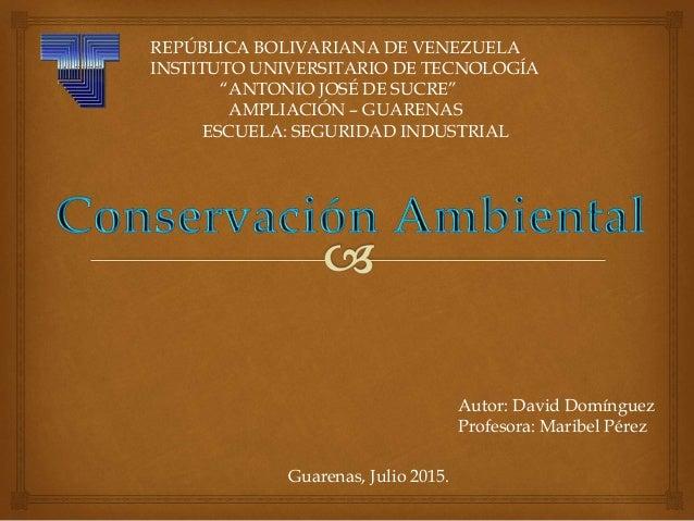 """REPÚBLICA BOLIVARIANA DE VENEZUELA INSTITUTO UNIVERSITARIO DE TECNOLOGÍA """"ANTONIO JOSÉ DE SUCRE"""" AMPLIACIÓN – GUARENAS ESC..."""
