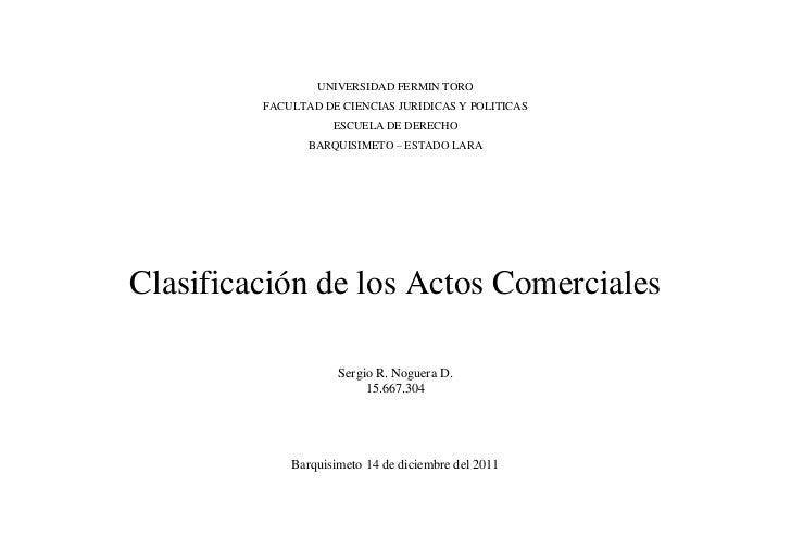 UNIVERSIDAD FERMIN TORO         FACULTAD DE CIENCIAS JURIDICAS Y POLITICAS                    ESCUELA DE DERECHO          ...