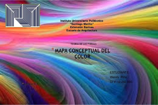 """*MAPA CONCEPTUAL DEL COLOR TEORIA DE LAS FORMAS *JUNIO 2013 Instituto Universitario Politécnico """"Santiago Mariño"""" Extensió..."""