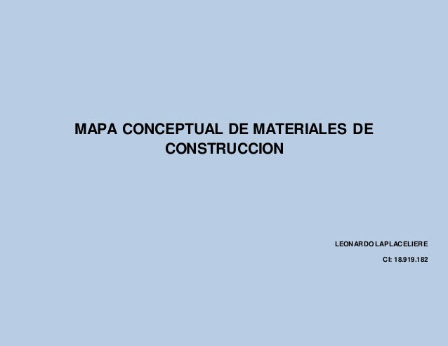 Mapa conceptual de materiales de construccion - Materiales de construccion las palmas ...