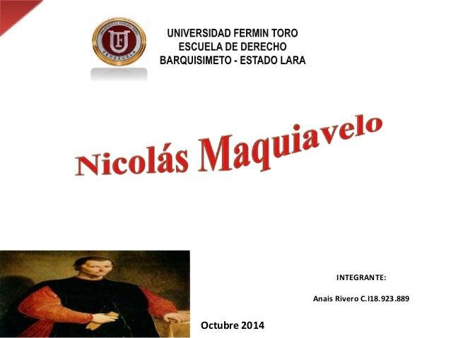 Octubre 2014  INTEGRANTE:  Anais Rivero C.I18.923.889