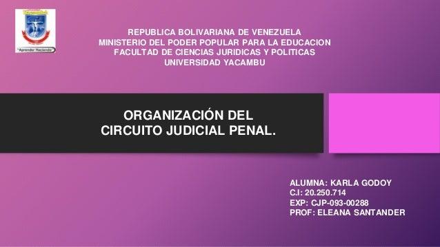 REPUBLICA BOLIVARIANA DE VENEZUELA MINISTERIO DEL PODER POPULAR PARA LA EDUCACION FACULTAD DE CIENCIAS JURIDICAS Y POLITIC...