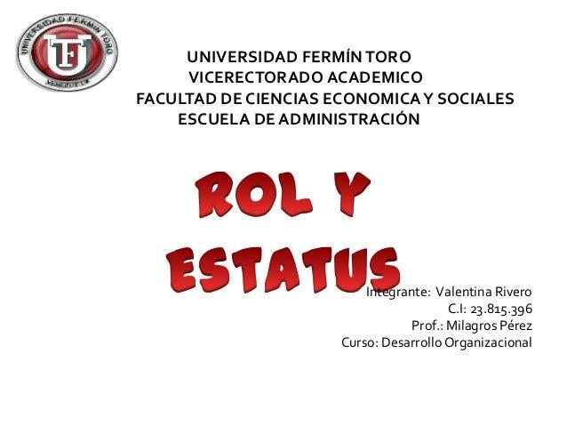 UNIVERSIDAD FERMÍN TORO     VICERECTORADO ACADEMICOFACULTAD DE CIENCIAS ECONOMICA Y SOCIALES    ESCUELA DE ADMINISTRACIÓN ...