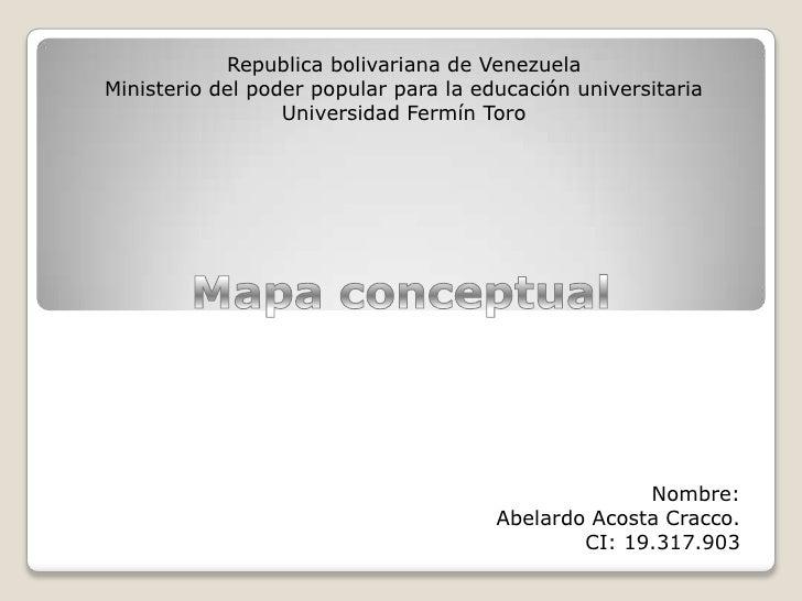 Republica bolivariana de VenezuelaMinisterio del poder popular para la educación universitaria                  Universida...