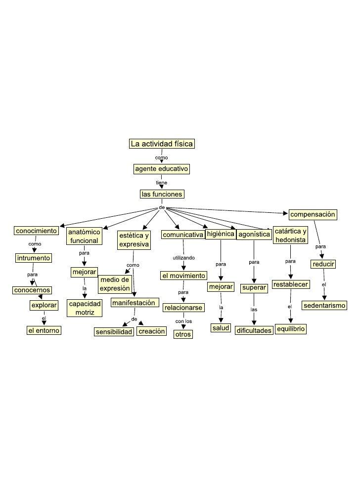 Mapa conceptual de la actividad física