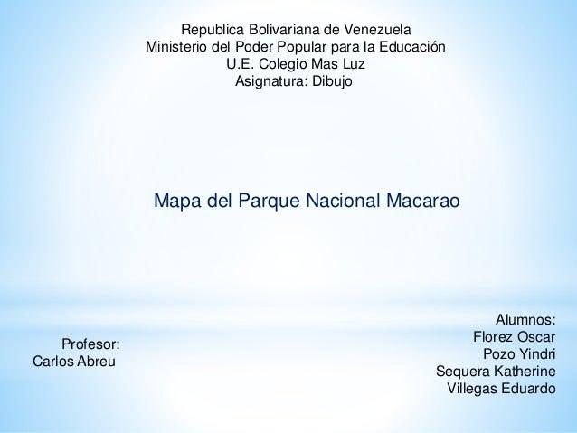 Republica Bolivariana de Venezuela Ministerio del Poder Popular para la Educación U.E. Colegio Mas Luz Asignatura: Dibujo ...