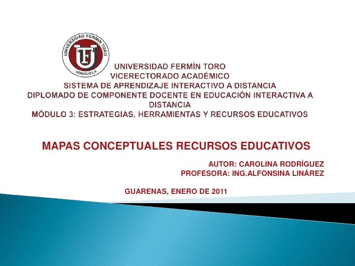 UNIVERSIDAD FERMÍN TOROVICERECTORADO ACADÉMICOSISTEMA DE APRENDIZAJE INTERACTIVO A DISTANCIADIPLOMADO DE COMPONENTE DOCENT...