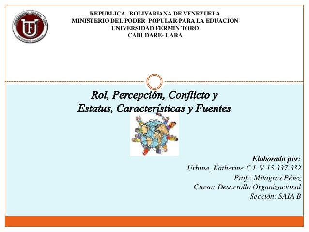 REPUBLICA BOLIVARIANA DE VENEZUELAMINISTERIO DEL PODER POPULAR PARA LA EDUACION           UNIVERSIDAD FERMIN TORO         ...