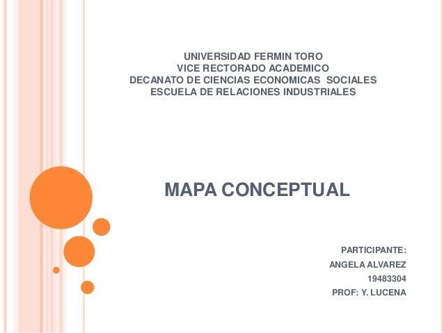 UNIVERSIDAD FERMIN TORO VICE RECTORADO ACADEMICO DECANATO DE CIENCIAS ECONOMICAS SOCIALES ESCUELA DE RELACIONES INDUSTRIAL...