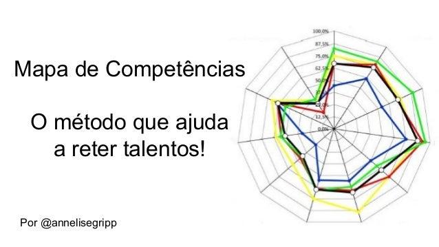 Mapa de Competências O método que ajuda a reter talentos! Por @annelisegripp