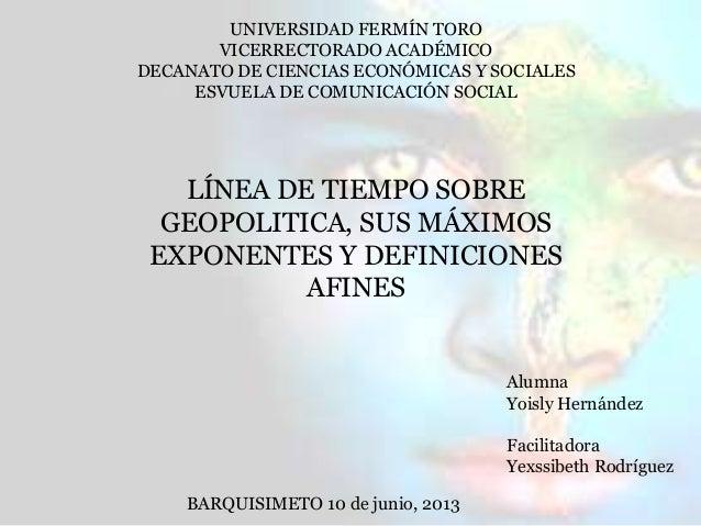 UNIVERSIDAD FERMÍN TOROVICERRECTORADO ACADÉMICODECANATO DE CIENCIAS ECONÓMICAS Y SOCIALESESVUELA DE COMUNICACIÓN SOCIALLÍN...