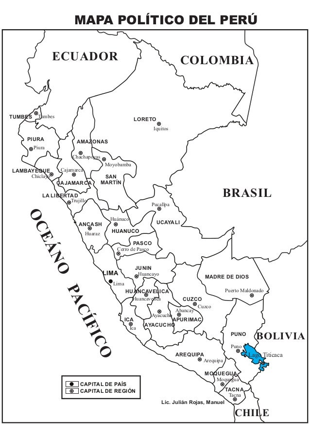 Mapa Politico Del Peru.Mapa Politico Del Peru