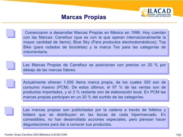 Marcas Propias Comenzaron a desarrollar Marcas Propias en México en 1996. Hoy cuentan con las Marcas: Carrefour (que es co...