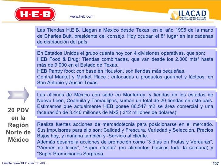 Las Tiendas H.E.B. Llegan a México desde Texas, en el año 1995 de la mano de Charles Butt, presidente del consejo. Hoy ocu...