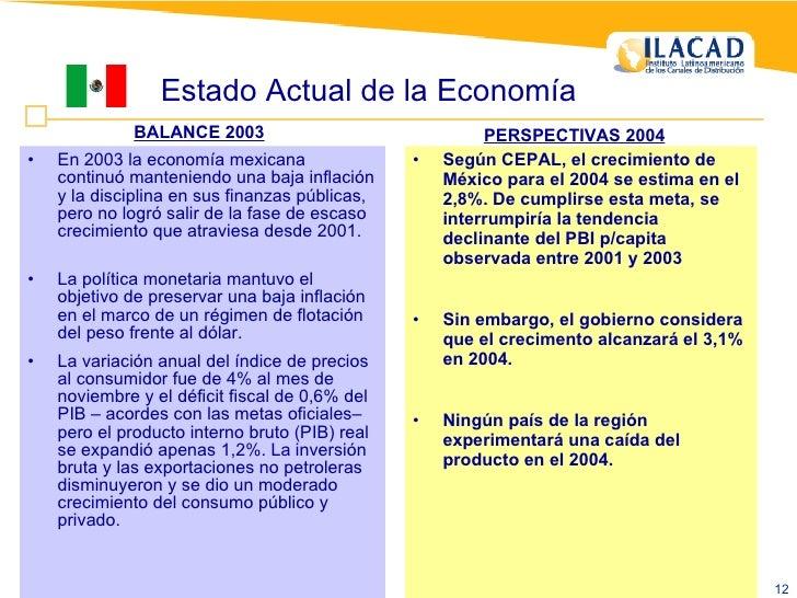 <ul><li>Según CEPAL, el crecimiento de México para el 2004 se estima en el 2,8%.  De cumplirse esta meta, se interrumpiría...
