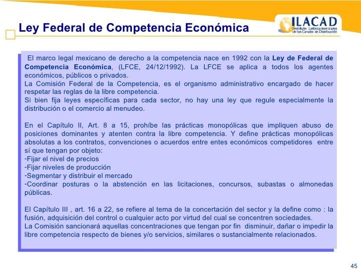 <ul><li>El marco legal mexicano de derecho a la competencia nace en 1992 con la  Ley de Federal de Competencia Económica ,...