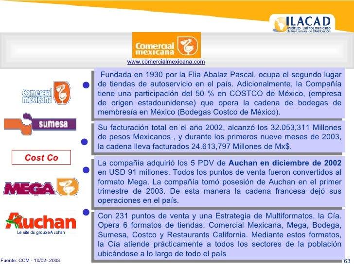www.comercialmexicana.com Fundada en 1930 por la Flia Abalaz Pascal, ocupa el segundo lugar de tiendas de autoservicio en ...