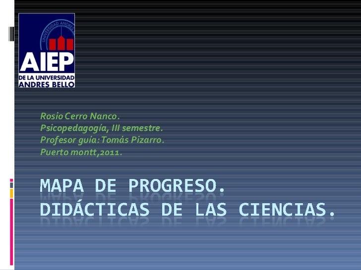 Rosio Cerro Nanco. Psicopedagogía, III semestre. Profesor guía: Tomás Pizarro. Puerto montt,2011.