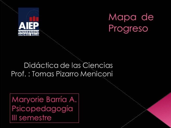 Maryorie Barría A. Psicopedagogía III semestre