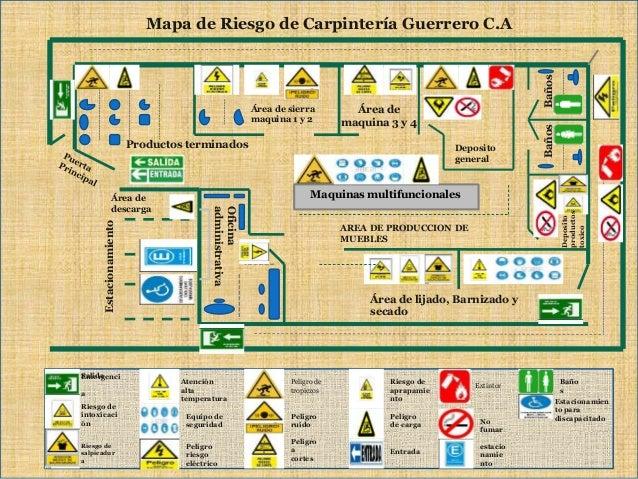 Higiene y seguridad industrial mapa de riesgo industrial for Croquis de oficinas administrativas