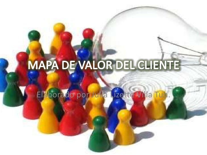 MAPA DE VALOR DEL CLIENTE<br />Elaborado por Julia Lizette Villa Tun.<br />