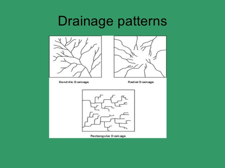 dendritic drainage pattern definition