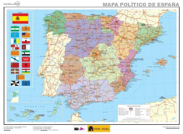 Mapa Geográfico De España.Mapa Espana Politico