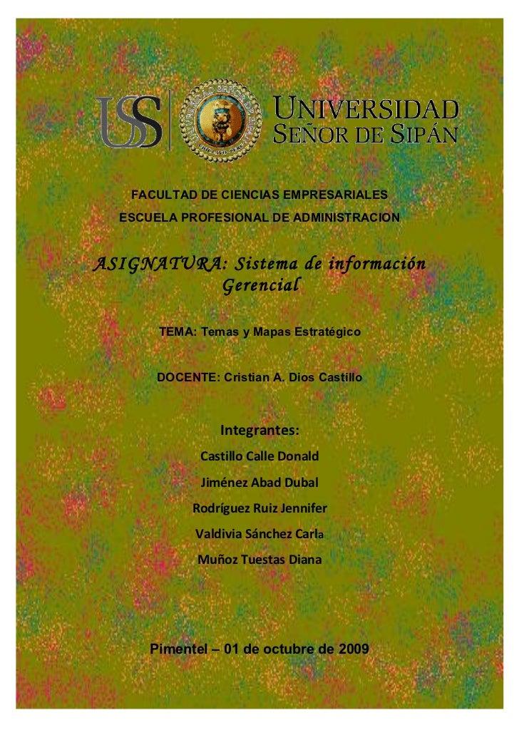FACULTAD DE CIENCIAS EMPRESARIALES   ESCUELA PROFESIONAL DE ADMINISTRACION   ASIGNATURA: Sistema de información           ...