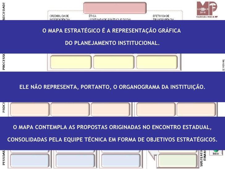 O MAPA ESTRATÉGICO É A REPRESENTAÇÃO GRÁFICA                    DO PLANEJAMENTO INSTITUCIONAL.        ELE NÃO REPRESENTA, ...