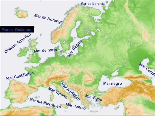 Worksheet. Mapa Europa Fisico