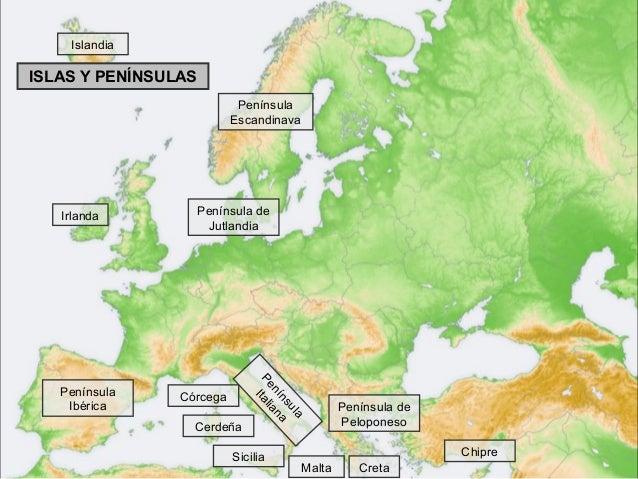 Mapa europa fsico