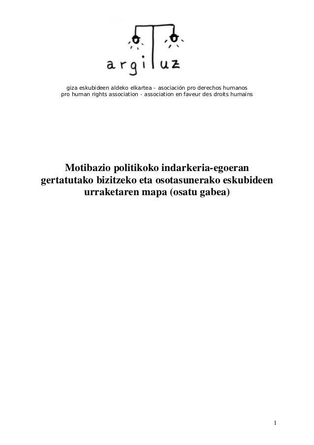 1 giza eskubideen aldeko elkartea - asociación pro derechos humanos pro human rights association - association en faveur d...