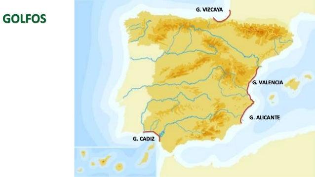 Estaca De Bares Mapa.Mapa Fisico De Espana Sin Rios