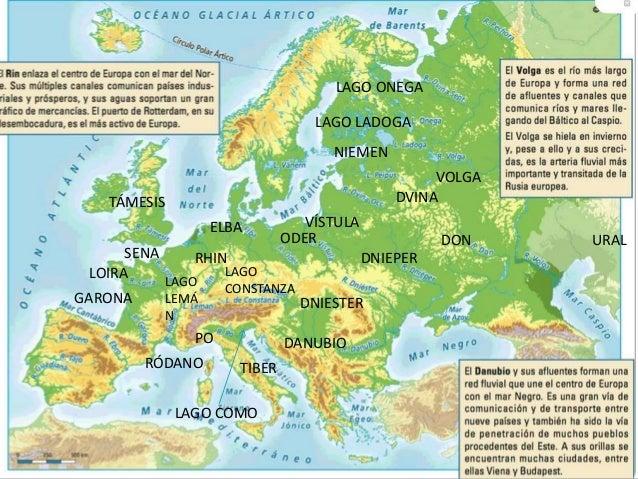 Mapa fsico y poltico de Europa y Espaa