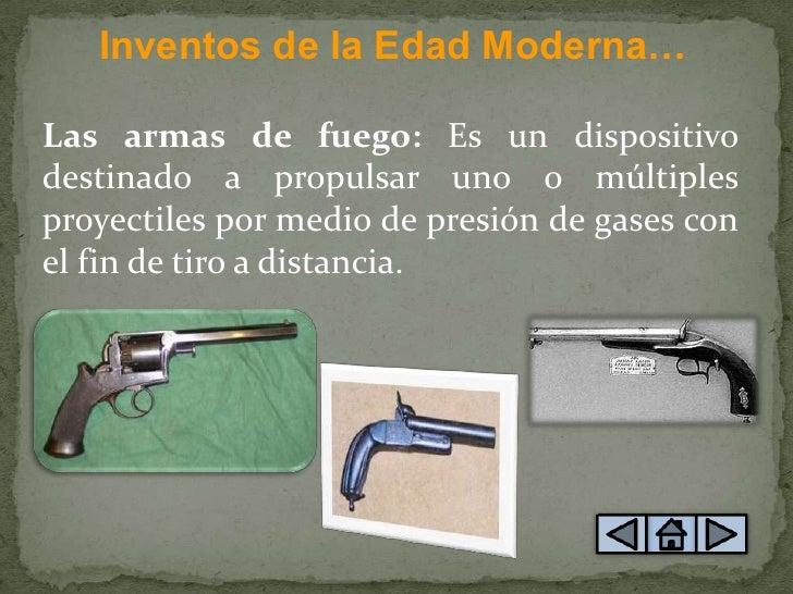 1 principales inventos de la edad moderna
