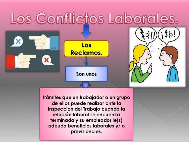 Los Reclamos. trámites que un trabajador o un grupo de ellos puede realizar ante la Inspección del Trabajo cuando la relac...