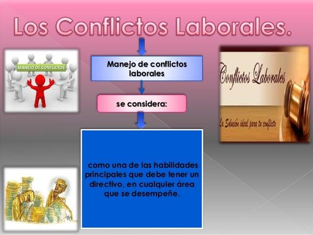 Manejo de conflictos laborales se considera: como una de las habilidades principales que debe tener un directivo, en cualq...