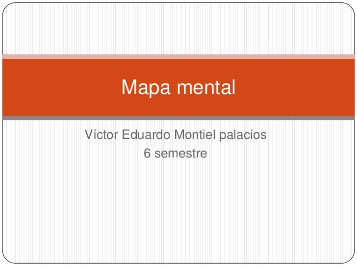 Mapa mentalVíctor Eduardo Montiel palacios          6 semestre