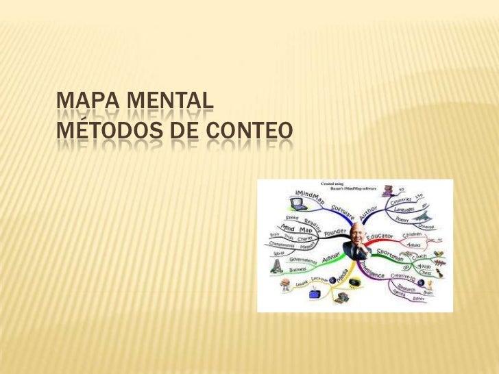 MAPA MENTALMÉTODOS DE CONTEO