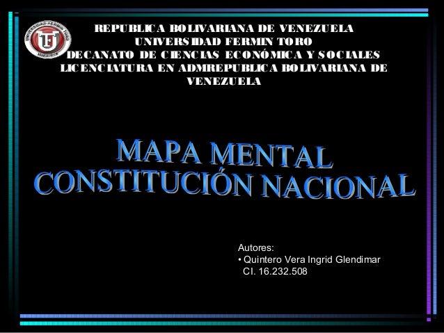 REPUBLIC A BOLIVARIANA DE VENEZUELA UNIVERS IDAD FERMIN TORO DEC ANATO DE C IENC IAS EC ONÓMIC A Y S OC IALES LIC ENC IATU...