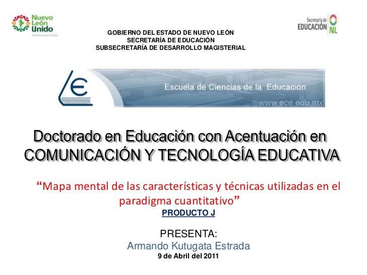 """Doctorado en Educación con Acentuación en <br />COMUNICACIÓN Y TECNOLOGÍA EDUCATIVA<br />""""Mapa mental de las característic..."""