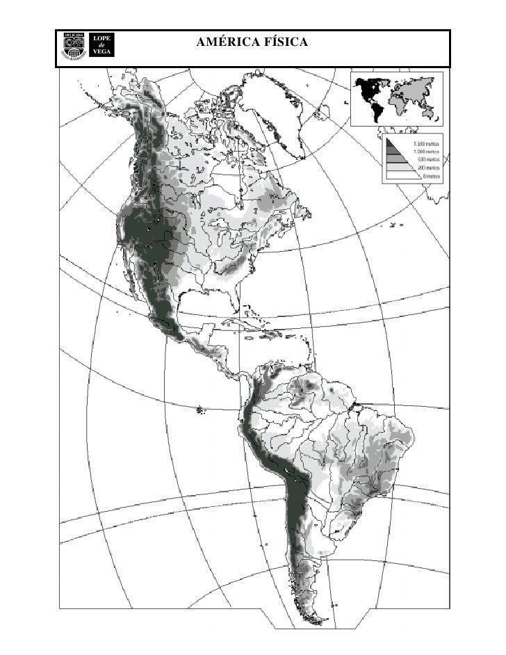 Mapa Fisico De America Mudo.Mapa Mudo Fisico America