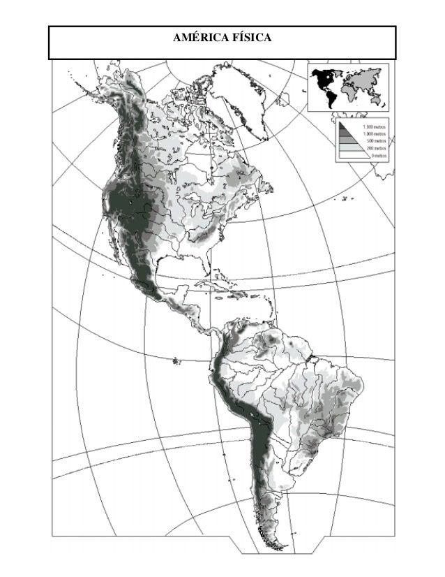 Mapa Mudo De America.Mapa Mudo Fisico America