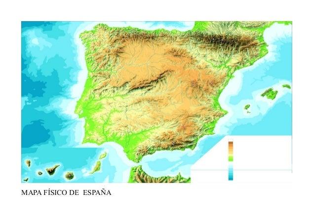 Mapa Mudo Fisico Espana