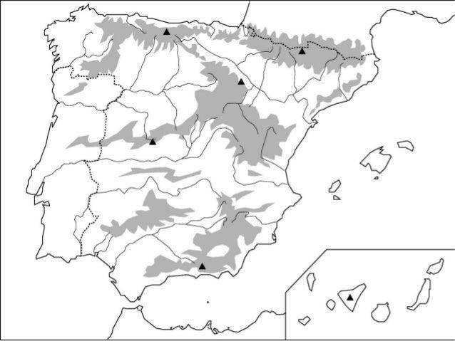 Resultado de imagen de mapa mudo relieve de españa