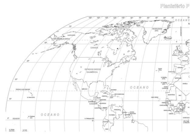 Mapa mundi 4 partes
