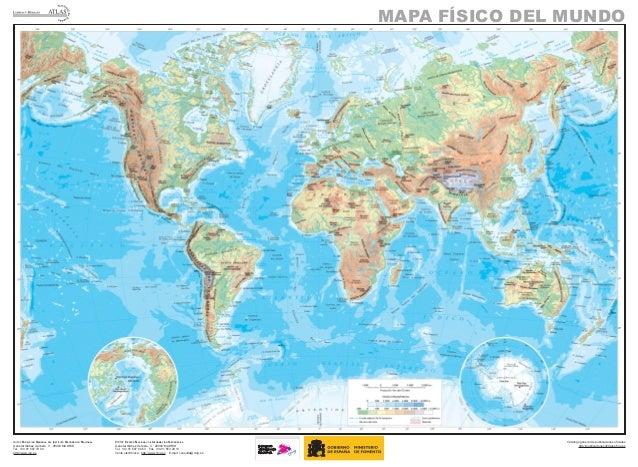 Mapa Físico Del Mundo.Mapa Mundo Fisico