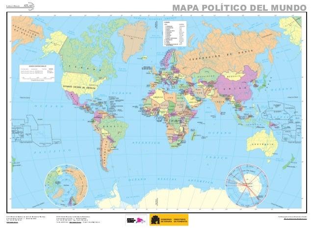 Mapa Geografico Del Mundo.Mapa Mundo Politico