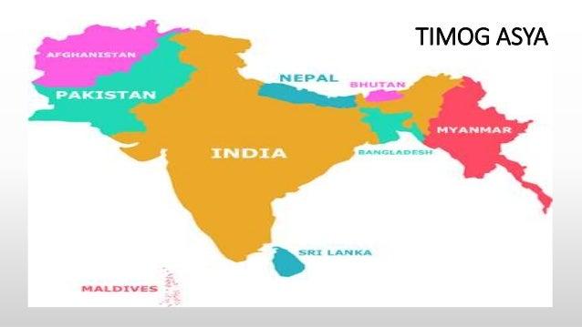 mapa ng timog asya