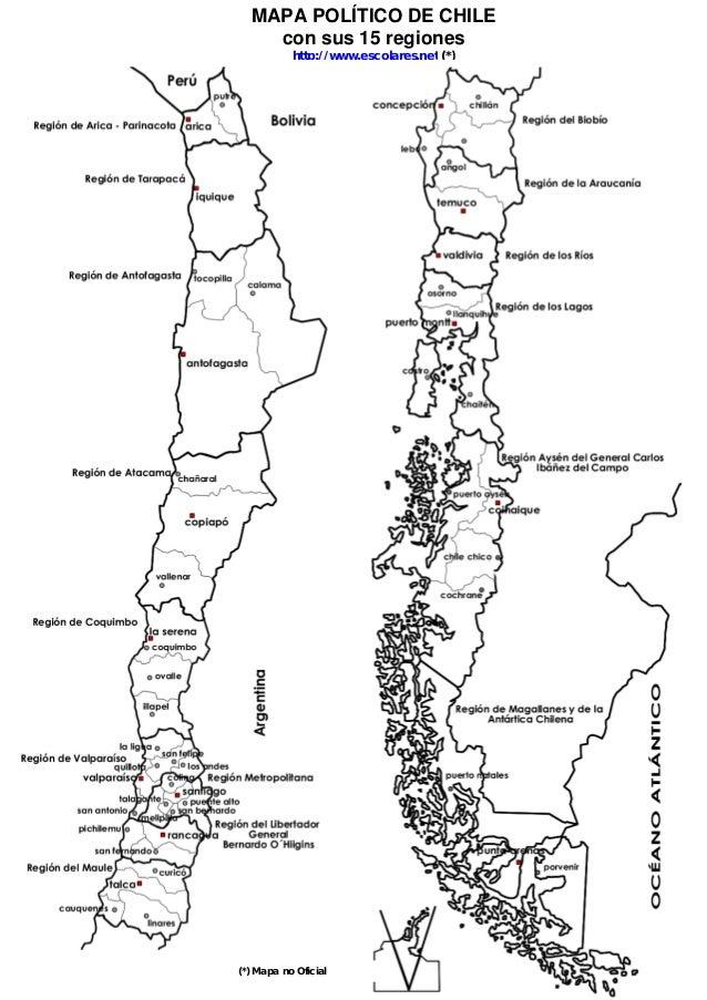 Mapapoliticodechile mapa poltico de chile con sus 15 regiones htuhttpescolares sciox Choice Image